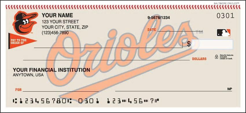 Baltimore Orioles Personal Checks
