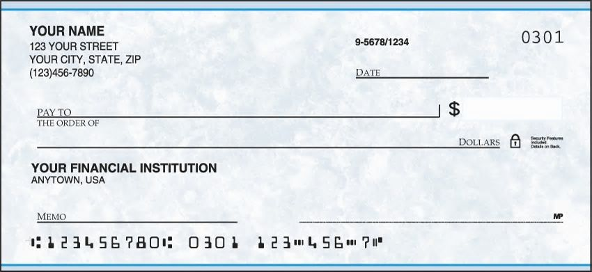 Blue Personal Checks