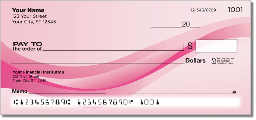 Pink Wave Personal Checks