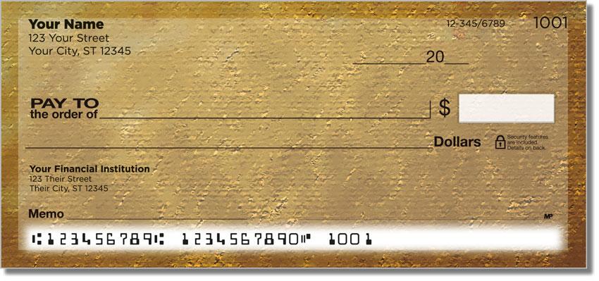 Brown Burlap Personal Checks