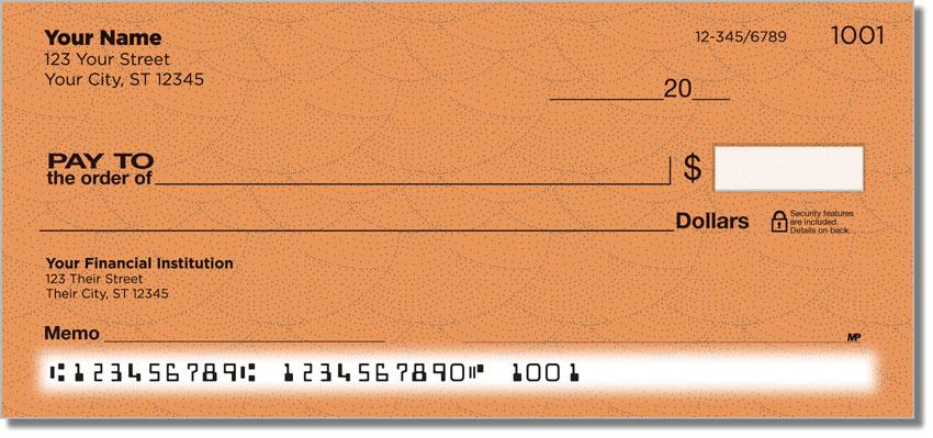 Orange Stipple Personal Checks