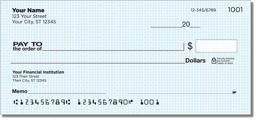 Classic Blue Personal Checks