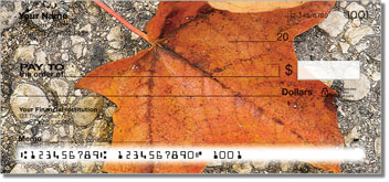 Autumn Leaves Personalized Checks