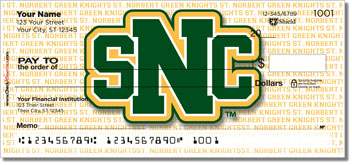 St. Norbert Athletic Personalized Checks