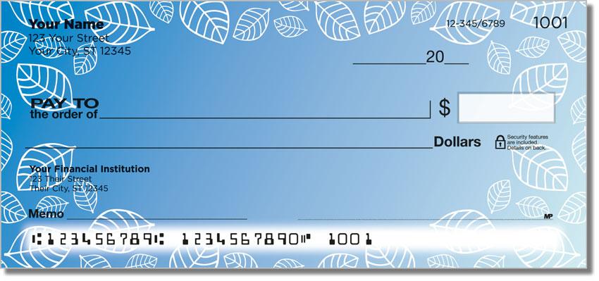 Leaf Border Personal Checks