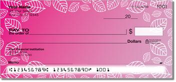Leaf Border Personalized Checks