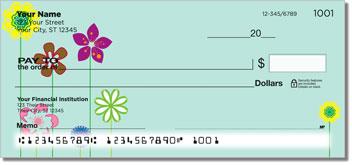 Flower Child Personalized Checks
