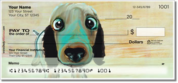 Dog Painting Personalized Checks