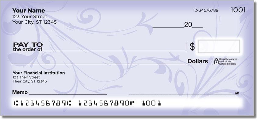 Violet Vine Personal Checks