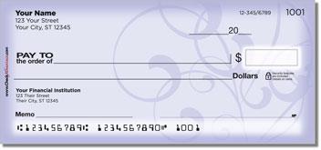 Violet Vine Personalized Checks