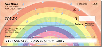 Rainbow Personalized Checks