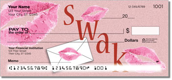Sealed With a Kiss Personalized Checks