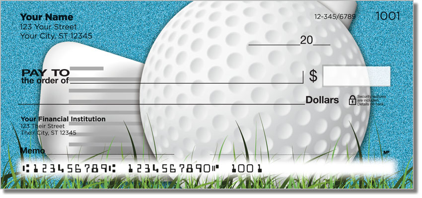 Gone Golfing Personal Checks