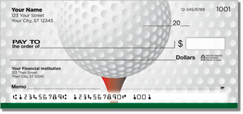 Gone Golfing Personalized Checks