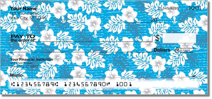 Hawaiian Print Personal Checks