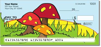 Woodland Toadstool Personalized Checks