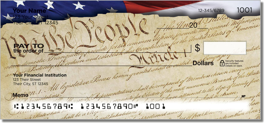 Words of Freedom Personal Checks