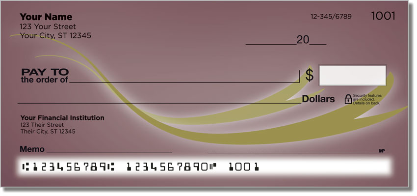 Flowing Ribbon Personal Checks