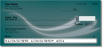 Flowing Ribbon Personalized Checks