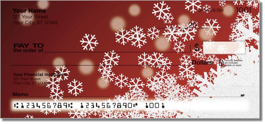 Holiday Snowflake Personal Checks