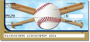 Blue & Gold Baseball Fan Design Checks