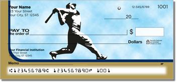 Blue & Gold Baseball Fan Theme Checks