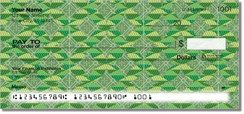 Patterns in Green Personal Checks