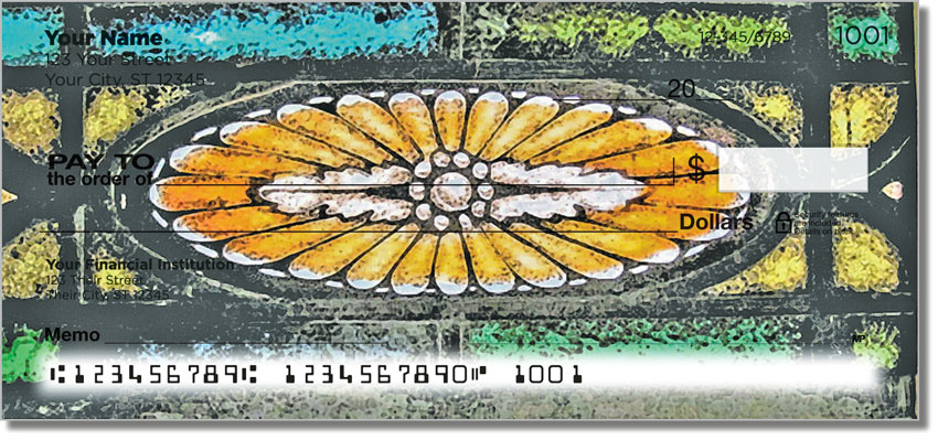 Stained Glass Window Personal Checks