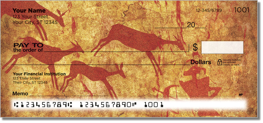 Cave Painting Personal Checks