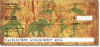 Cave Painting Personalized Checks