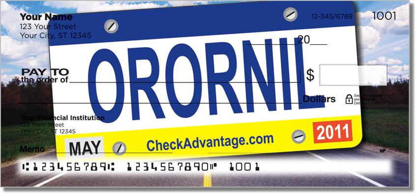 License Plate Personal Checks