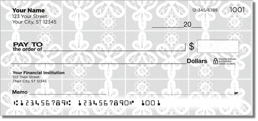 Lace Doily Personal Checks
