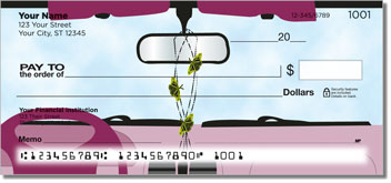 Car Mirror Decor Personalized Checks