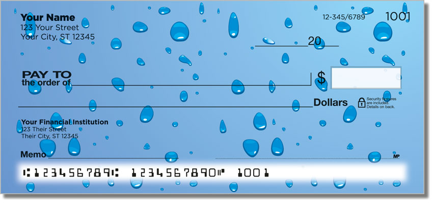 Water Droplet Personal Checks