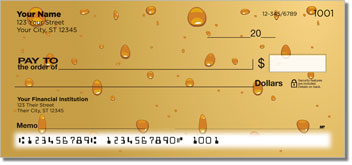 Water Droplet Personalized Checks
