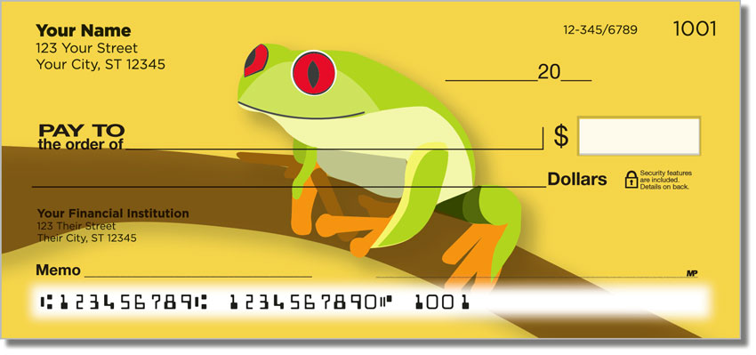 Red-Eyed Frog Personal Checks