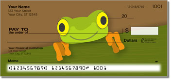 Red-Eyed Frog Personalized Checks