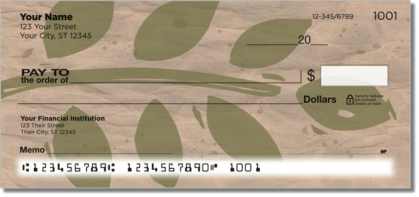 Painted Leaf Personal Checks