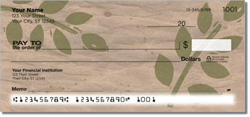 Painted Leaf Personalized Checks