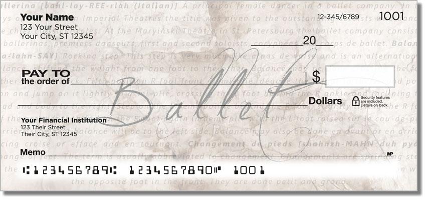 Ballerina Personal Checks