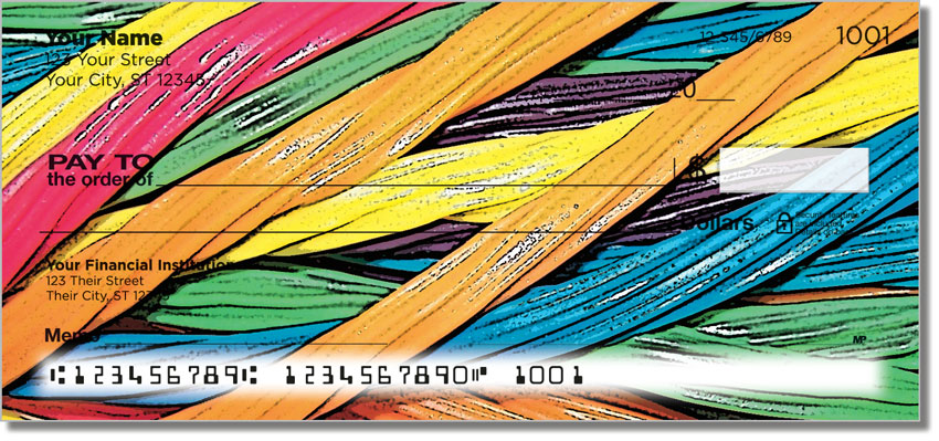 Licorice Rainbow Personal Checks