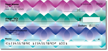Rainbow Droplet Personalized Checks