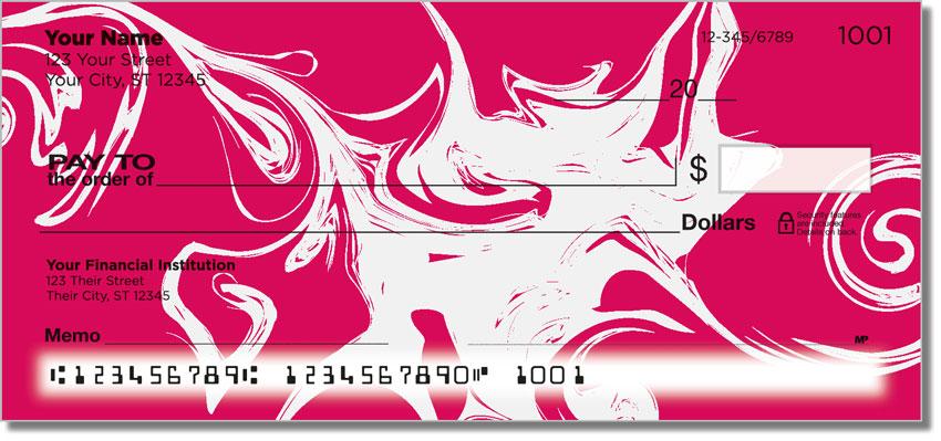 White Swirl Personal Checks
