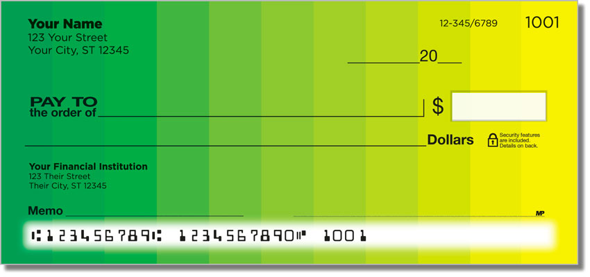 Color Change Personal Checks