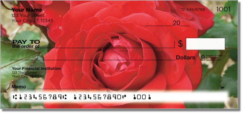Blooming Rose Personal Checks