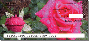 Blooming Rose Personalized Checks