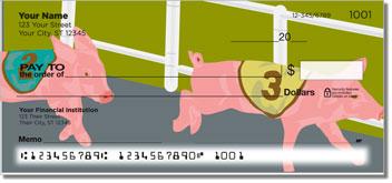 Pig Racing Personalized Checks