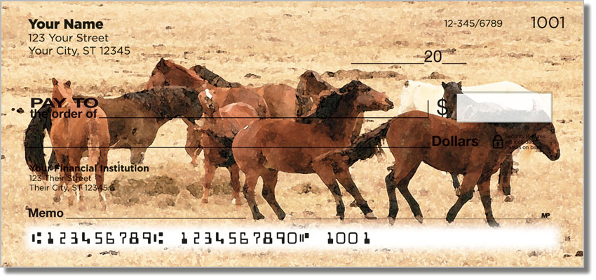 Country Horse Personal Checks