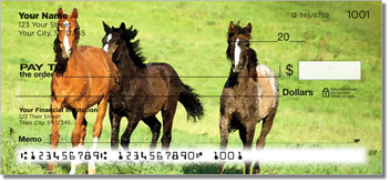 Country Horse Personalized Checks