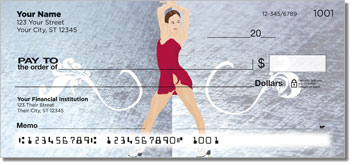 Figure Skater Personalized Checks